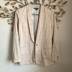 VINCE▪️Stone Wash Single Button Linen Blazer. 4